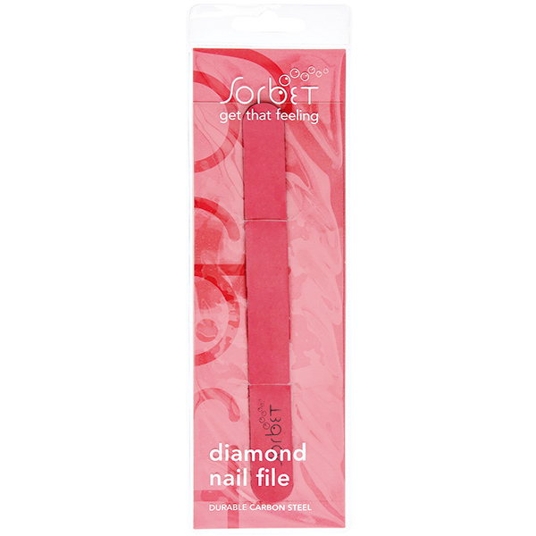 Diamond Nail File Pink Carbon Steel